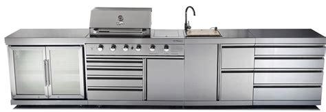 Enamel Top Cabinet by Outdoor Kitchen Chefmaster Galley Series 4 Burner Bbq