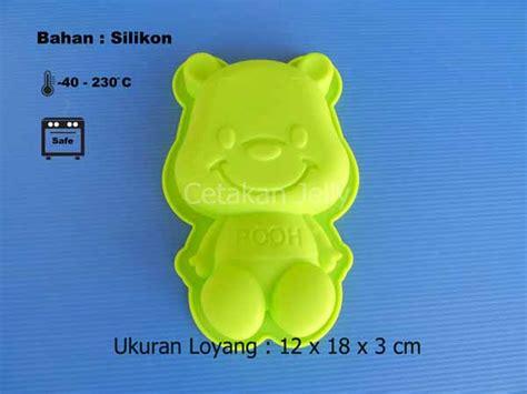 Pooh 4 Cavity Berkualitas Cetakan Silikon Kue Puding Pooh Cetakan Jelly