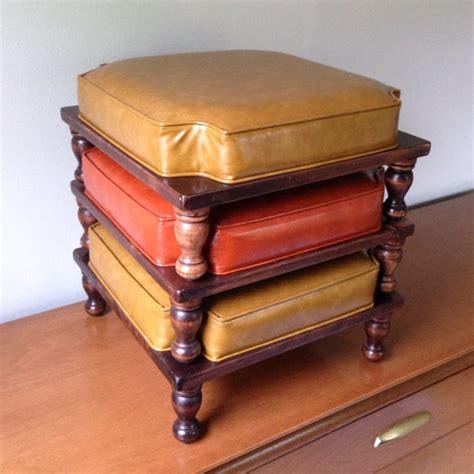 retro ottoman retro stacking ottoman set