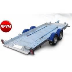 remorque porte voitures 2 essieux cu 1t7 rpvm 2502 46