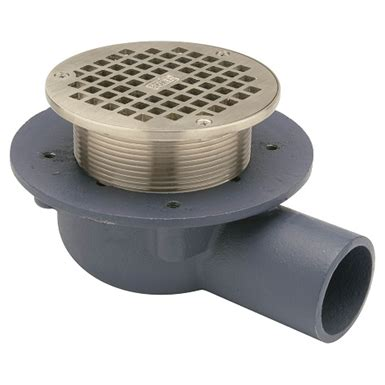 Jr Smith Shower Drain by Z460b Shallow Floor Drain With Side Outlet And Quot Type B Quot Strainer Zurn Industries Free