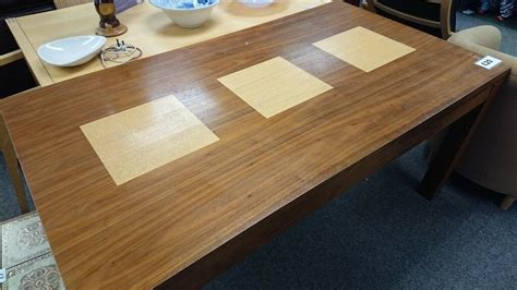 large modern chunky dining room table  stoke  trent