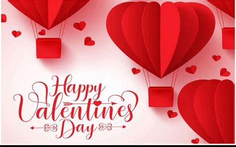 happy valentines day hearts hot air balloon wallpaper hd