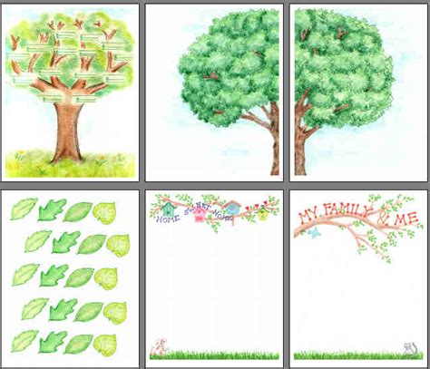 printable family tree scrapbooking from scrapbookscrapbook com