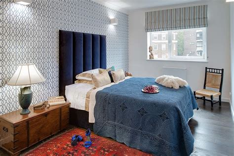 indigo bedroom 25 awesome rooms that inspire you to try out geometric