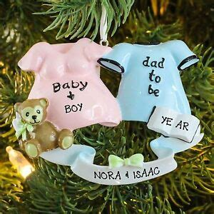exoecting chrostmas ornament with family 2 to be to be we re expecting new baby personalized ornament ebay