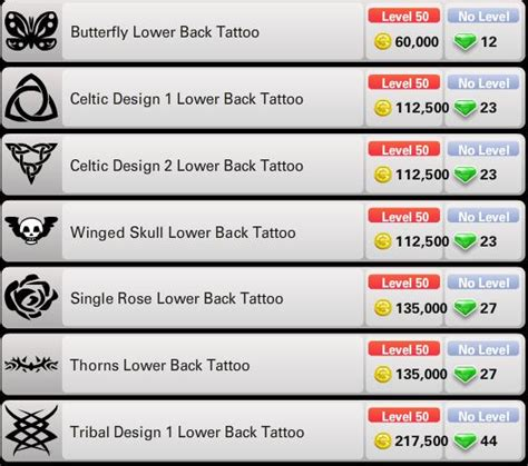 cheap tattoo s prices impersonated s ourworld gem codes
