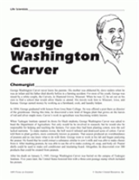 biography of george washington for elementary students george washington carver teachervision