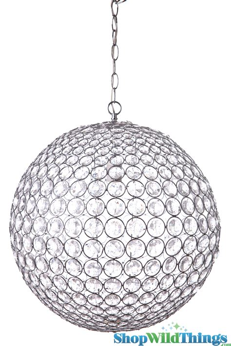 Crystal Sphere Chandelier 20 Quot Round Beaded Sphere Chandelier With Crystals