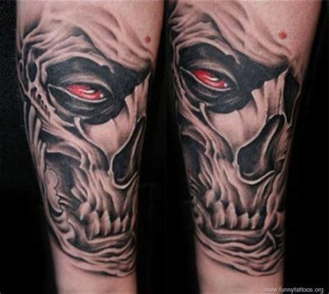 evil tattoo sleeve designs evil skull arm tattoos tattooshunt