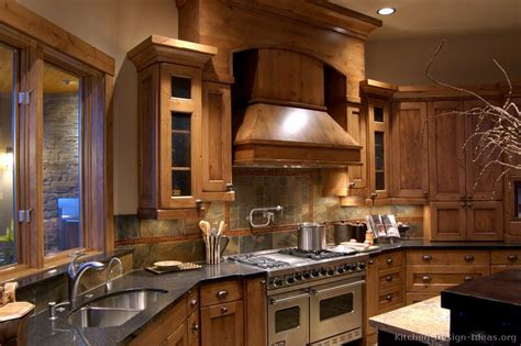 Rustic Kitchen Cabinet Ideas Log Home Kitchens Pictures Design Ideas