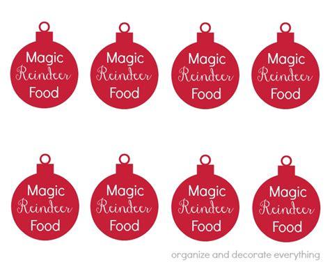 printable reindeer food stickers magic reindeer food recipes food