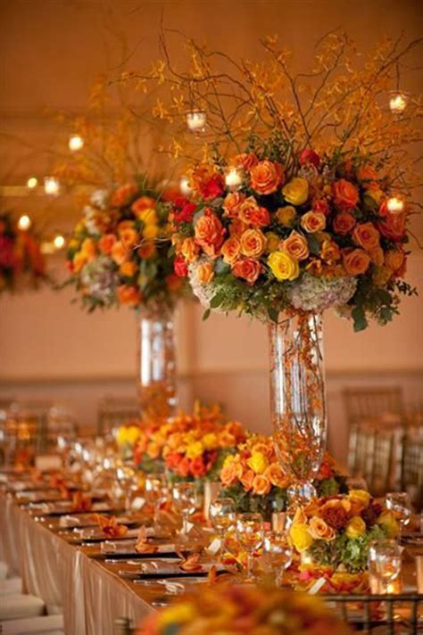 wedding table flower centerpieces uk picking the autumn decorations chwv