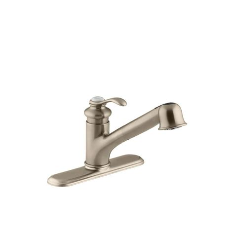 Kohler Single Handle Kitchen Faucet by Kohler Fairfax Single Handle Pull Out Sprayer Kitchen