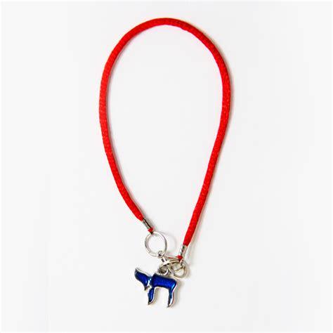 Pendant String Bracelet blue chai string bracelet