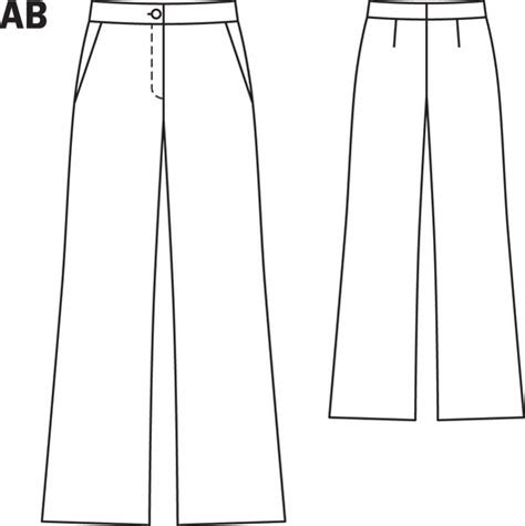 pattern templates from issue 40 sew hip bootcut trousers 10 2013 126a sewing patterns