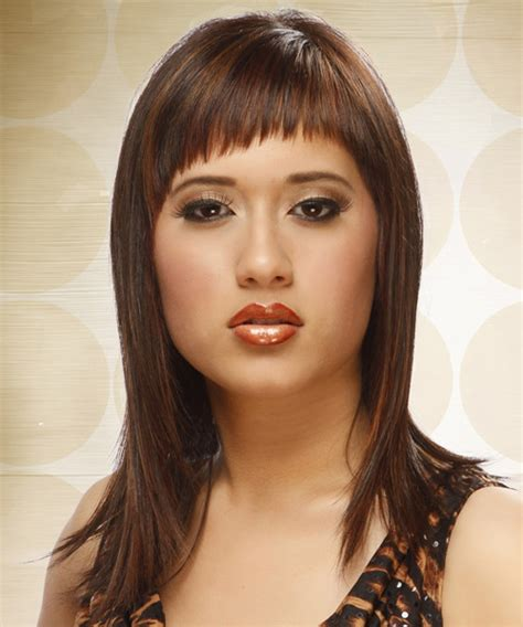 hairstyles with diagonal bangs long straight alternative hairstyle with asymmetrical