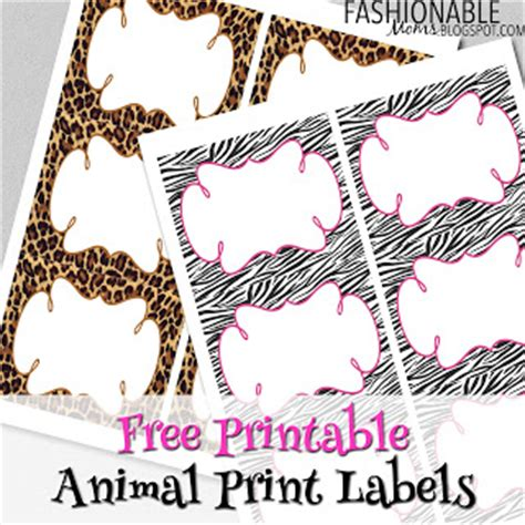 printable zebra print labels my fashionable designs free printable animal print labels