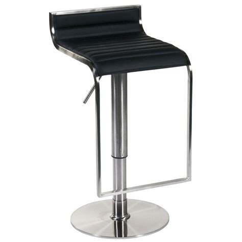 forest adjustable bar counter stool black satin nickel