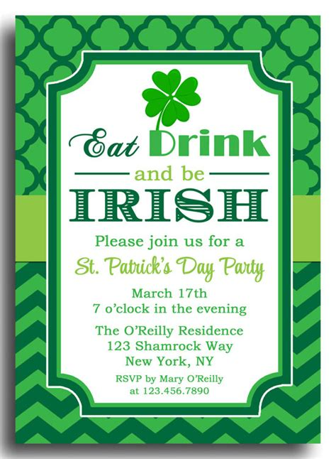 st template free st s day invitation printable or printed with