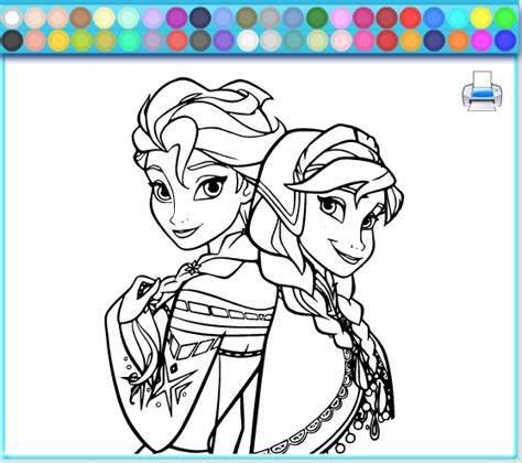 frozen coloring pages and games elsa and anna disagreement coloring page frozen games
