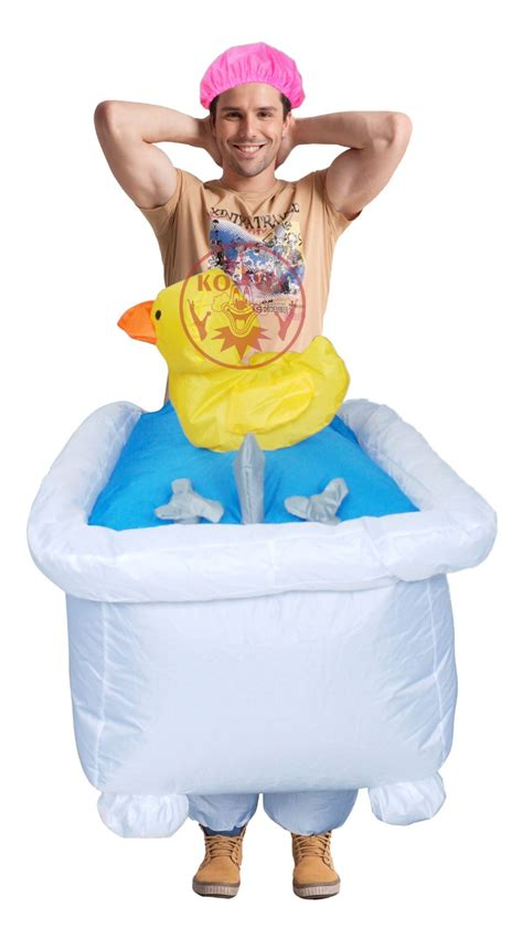 men s good clean fun inflatable bathtub costume halloween