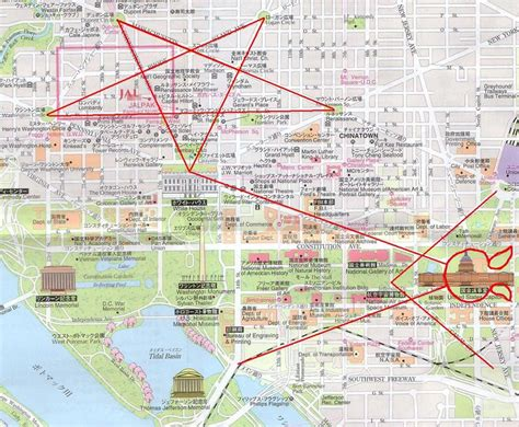 washington dc map layout masonic symbols of power in their seat of power