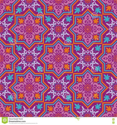 islamic web pattern arabesque on a violet background stock vector image