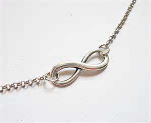 Infinity Jewelry Silver Infinity Necklace Eternity Jewelry Infinity Pendant