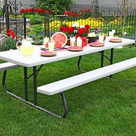 lifetime 8 picnic table lifetime products 8 ft folding putty picnic table farm