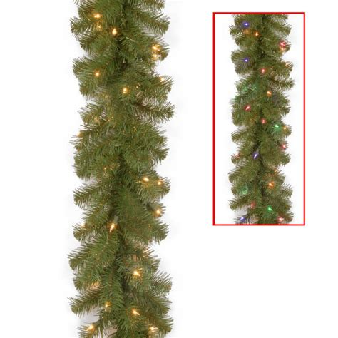 12 ft lighted garland ge 18 ft holiday classics artificial garland with 50 c6