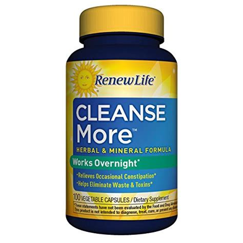 Flat Belly Overnight Detox Formula Free by Renew Cleanse More 100 Capsules
