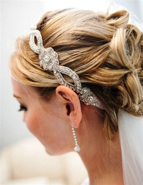 wedding hairstyles with a headband headband wedding hairstyle wedding
