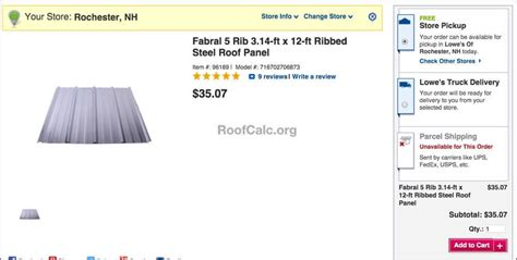 lowe s home depot metal roofing prices and options