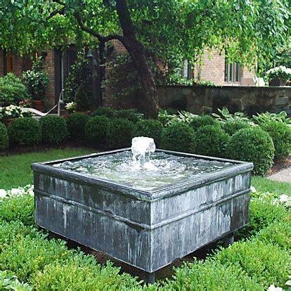 zinc fountain detroit garden works garden works outdoor