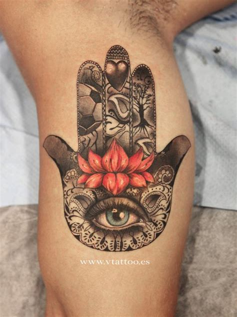 hamsa tattoos 45 popular hamsa designs for with meaning