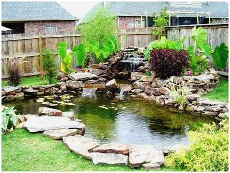 Backyard Ponds Designs by Backyard With Small Pond Pictures 02