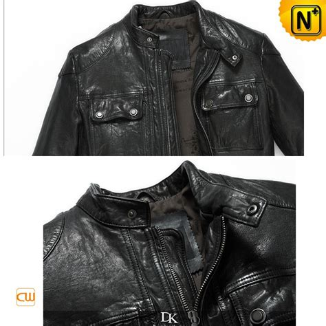 Rugged Mens Jacket by Mens Rugged Black Lambskin Leather Jacket Cw850128