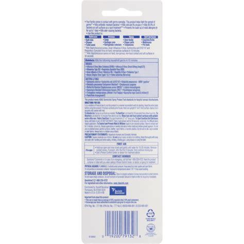 lysol disinfectant spray label