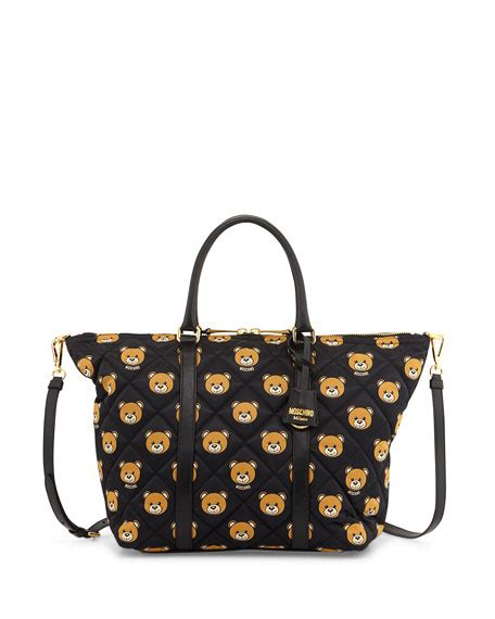 Bag With Teddy moschino quilted medium teddy shoulder bag