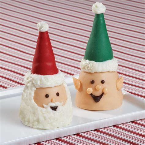 cute christmas desserts this cute little santa and elf are made with our brownie