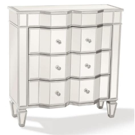 Mirrored Nightstand With Drawers by Mirrored Nightstand With 3 Drawers Seastarboutique