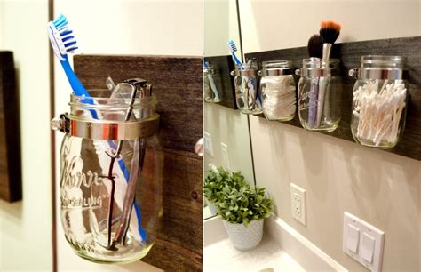 How To Make A Wall Display Using A Simple Jar Or Bottle Jar Bathroom Storage