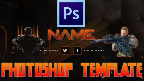 Free Gaming Channel Art Black Ops 3 Channel Art Template Photoshop Channel Art Template Gaming Channel Template
