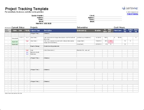 excel tracking template free project tracking template for excel