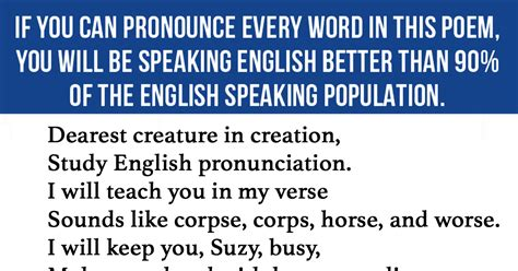 esl english pronunciation 90 of all english speakers can t pronounce every word in