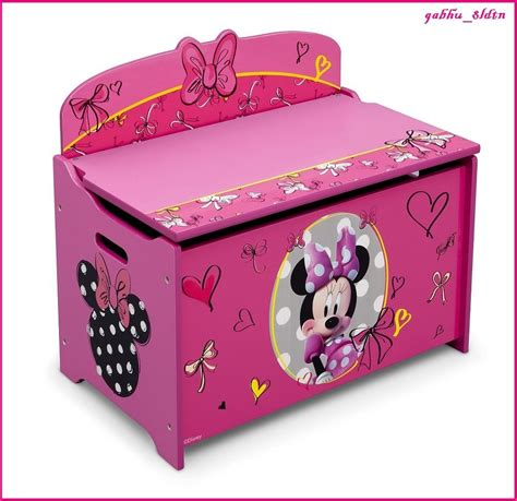 princess toy chest bench toy box disney girls bench princess minnie mouse organizer