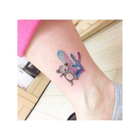 geometric koala tattoo koala cactus 일러스트 삽화느낌으로 작업한 코알라와 선인장입니다