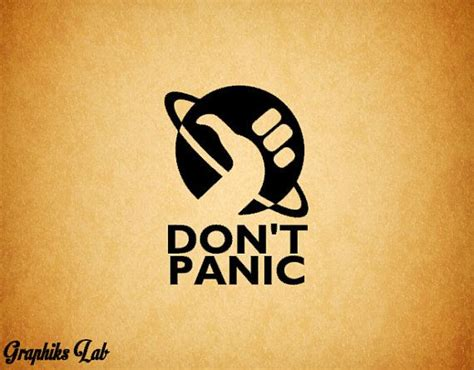 don t panic tattoo don t panic hitchhiker s guide to the galaxy inspired
