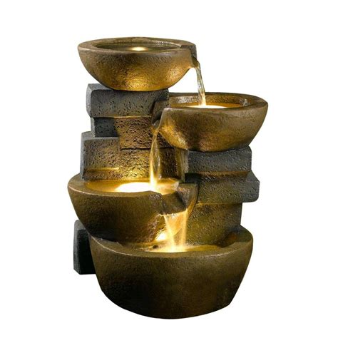 fountain cellar pots water fountain  led light fcl